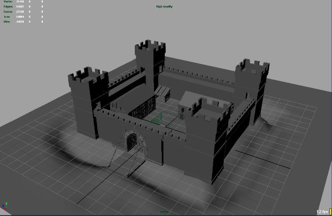 Maya Castle Scene