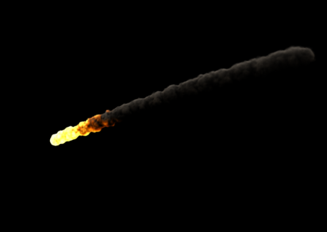 Maya Mental Ray Render of Meteor
