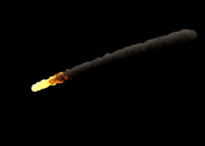 Maya Software Render of Meteor